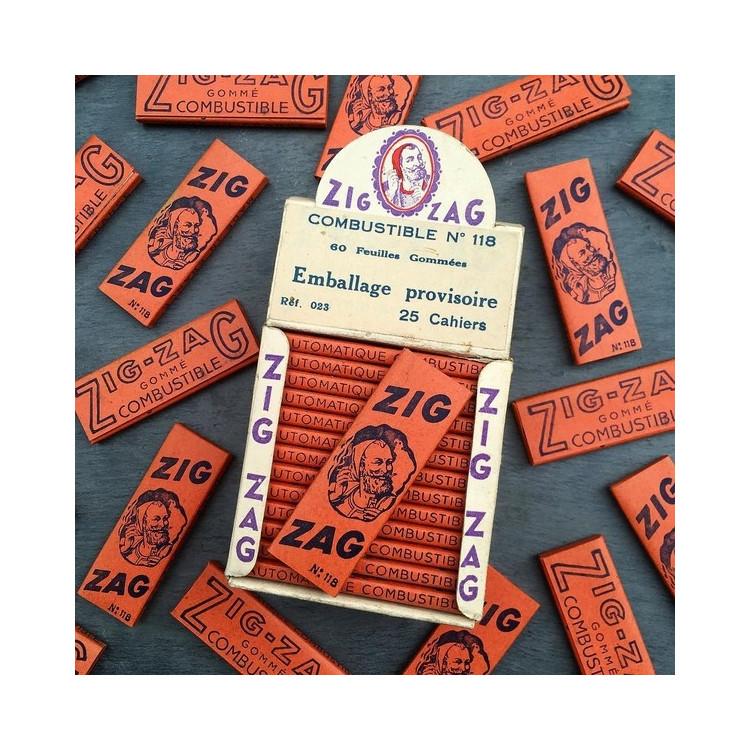 petit cahier ancien zig zag feuille a rouler vintage 1930 1940 zouave cigarette tabac