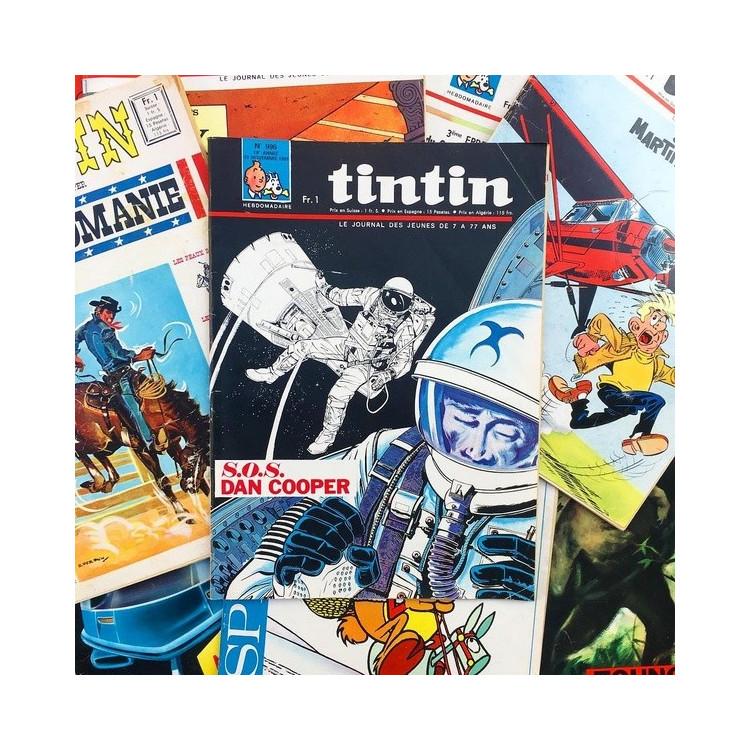 journal de tintin ancien vintage exemplaire 1960 hergé
