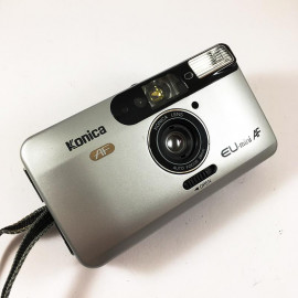 konica eu mini AF analog compact point and shoot antique vintage 1998 flash