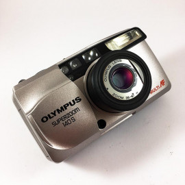 olympus superzoom 140S zoom point and shoot antique vintage 38-140mm  analog 1999 compact camera