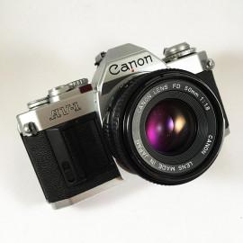 Canon AV-1 Chrome 50mm 1.8 FD Appareil reflex argentique priorité ouverture