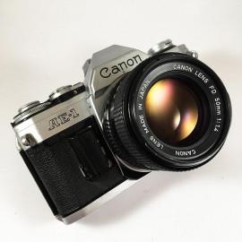 canon ae1 ae-1 reflex analog 50mm 1.4 35mm 135 chrome silver