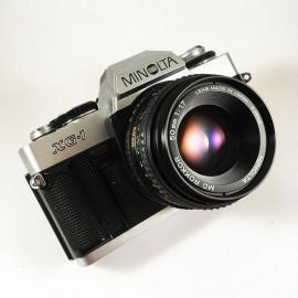 minolta xg1 rokkor 50mm 1.7 vintage analog camera reflex chrome