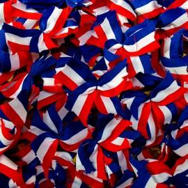 french flag cockade vintage 1970 1980 fabric
