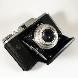 adox golf 66 cassar 75mm 4.5 soufflet moyen format film 120 manuel 1954 1950 ancien vintage cellule