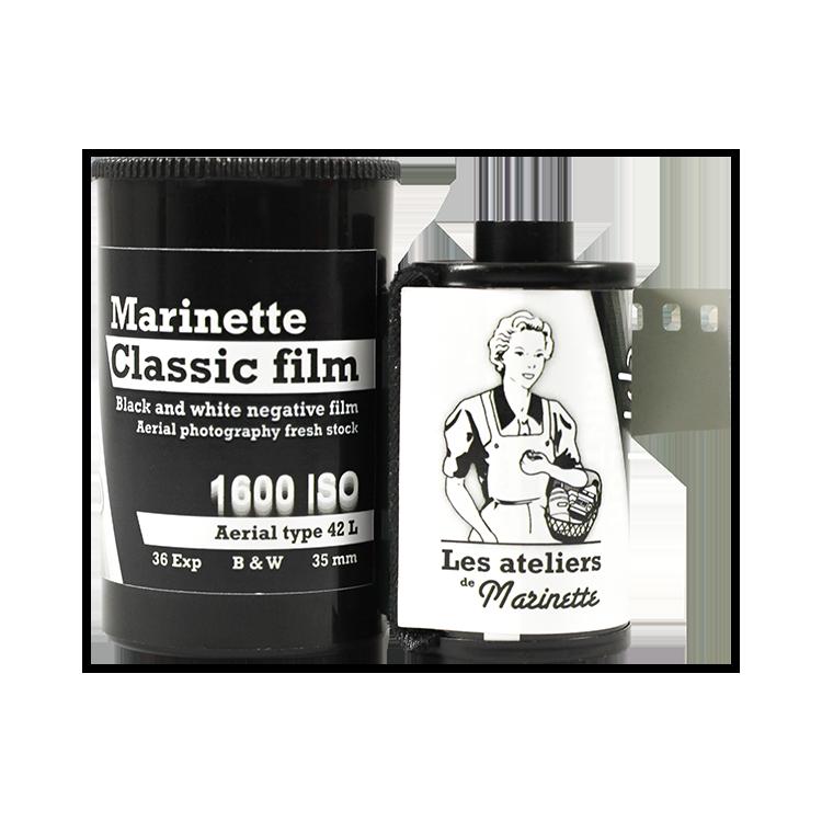 Marinette Classic Film 1300 Iso 1600 Iso Film Tasma Aerial 42L Type 42 analog film grain black and white
