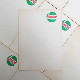 facture facturette bloc note castrol motor oil huile garage vintage 1960 1970