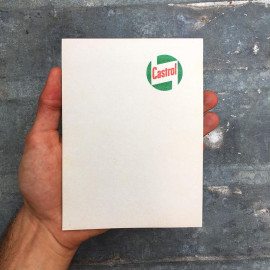 castrol motor oil bill note scratch pad vintage 1970 garage