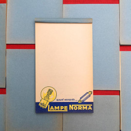 lamp norma car bill note scratch pad vintage 1960 garage