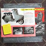 leaflet advertising scooter biplace FMC french moto bike motobike vintage 1950 1954 garage