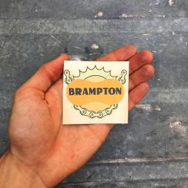 water transfer chain brampton sticker garage  antique old vintage 1950 1960 bike moto motobike cycle