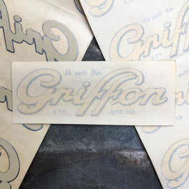 water transfer griffon sticker garage  antique old vintage 1950 1960 bike moto motobike cycle