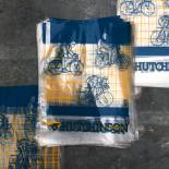 sachet emballage hutchinson vélo pneu moto 1980 ancien vintage chambre air illustration