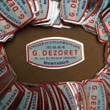 moto bicycle bike plaque label sticker plate metal metallic 1950 1960 g dezoret french manufacturer