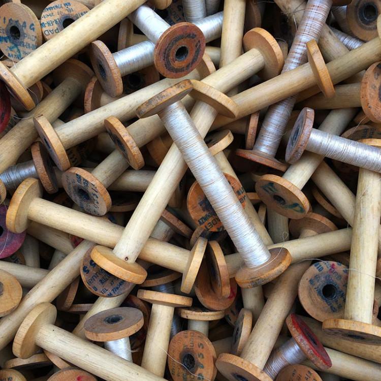 bobine de tissage etienne padet bois ancien vintage mercerie 1950 1960 filature ancienne