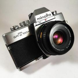 minolta srt100 srt 100X chrome ancien appareil argentique vintage 24 36 35mm objectif 45mm md rokkor 2