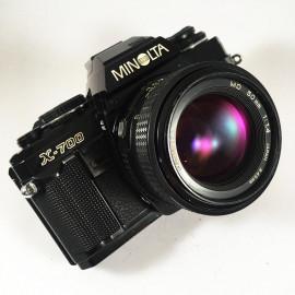 minolta x 700 x-700 50mm md 1.4 reflex reflex 35mm analog film camera vintage multimode