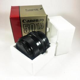 Canon FD New 50mm 1.4 objectif ancien vintage argentique 35mm 24 36