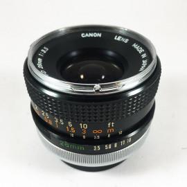 Canon FD chrome 28mm 3.5 objectif ancien vintage argentique 35mm 24 36