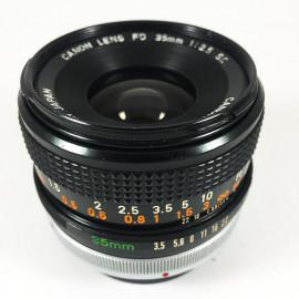 Canon FD chrome 35mm 3.5 objectif ancien vintage argentique 35mm 24 36