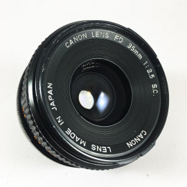 Canon FD Chrome 35mm 3.5 lens vintage 35mm 24 36 antique vintage analog reflex 24 36