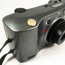 minolta riva af zoom 105 ex point and shoot antic vintage 38-105mm  analog 1993 compact camera grey
