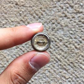 bouton ancien militaire chasseur à pied TW&W Paris 16mm 1930 Ancien