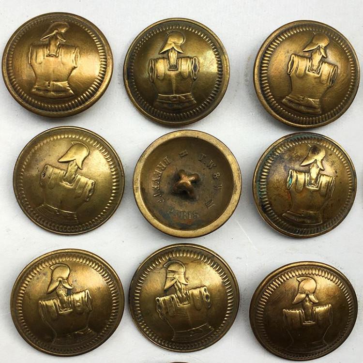 bouton ancien génie militaire TW&W Paris 23mm 1890 Ancien Vintage Militaire