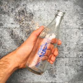 bouteille verre lait berliet ancien vintage cantine 1960