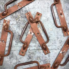 poignée tiroir coffre métallique rabat métal ancienne vintage 1930