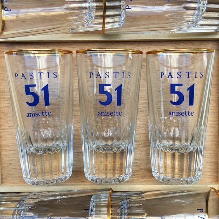 glass pastis 51 anisette antique vintage soda restaurant bar 1970