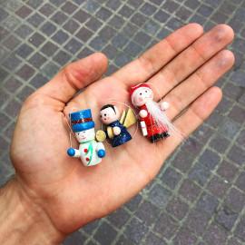 figurine bois ancien vintage jouet jouets usine noël sapin 1990