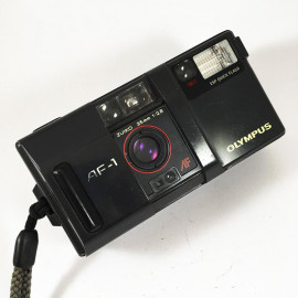 olympus af-1 point and shoot 35mm 2.8 argentique film