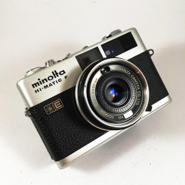 minolta hi-matic f vintage antique rokkor 38mm 2.7 analog 1972 rangefinder compact camera