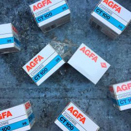 expired film vintage analog agfa chrome CT100 100 CT color slide film 35mm