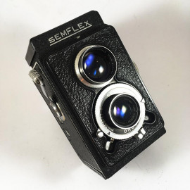 sem semflex otomatic 4.5 berthiot sem 75mm camera reflex tlr 6x6 analog 120 1950 black