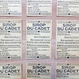 etiquette sirop cadet pharmacie médicament 1930 ancien ancienne
