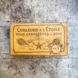 wood box color printing pigment colorant antique vintage 1890