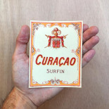 bottle vintage antique curacao surfin bar 1930 design label