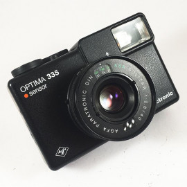 agfa optima sensor 335 electronic solitar 40mm 2.8 compact analog film camera