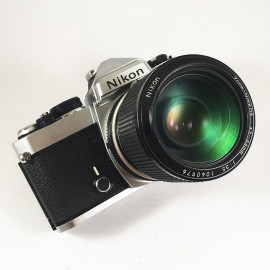 nikon fe nikon lens zoom nikkor 43mm 86mm 3.5 vintage analog camera reflex