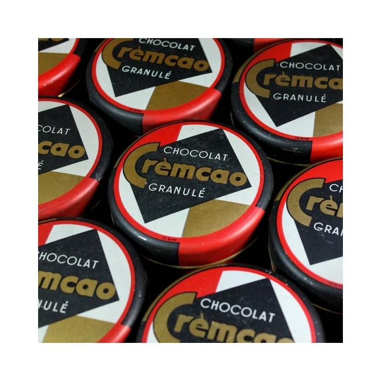 boite ancienne de chocolat cremcao granulé pelloux prayer grenoble vintage 1950 1960 epicerie