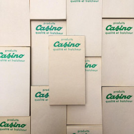 vintage casino note pad bar order 1950 1960 paper antique french shop
