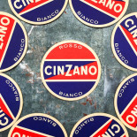 cinzano rosso bianco alcool aperitif sous bock carton ancien vintage alcool 1950 1960
