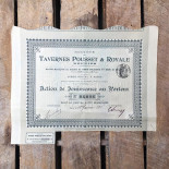 tavernes pousset royale restaurant 1912 1910 stock option antique vintage paper printing factory