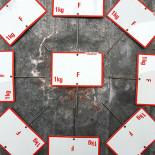 pique-prix prix casino 1kg 1 kilo ancien vintage épicerie glacoide plastique 1960
