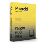 pellicule polaroid duochrome film 600 noir et jaune yellow bord noir