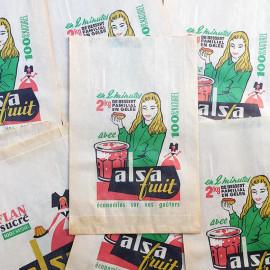 paper bag alsa fruits illustration vintage old 1960