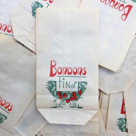 sachet ancien bonbons fins illustration emballage papier vintage 1960 1950