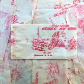 paper bag hairnet net hair illustration vintage old 1960